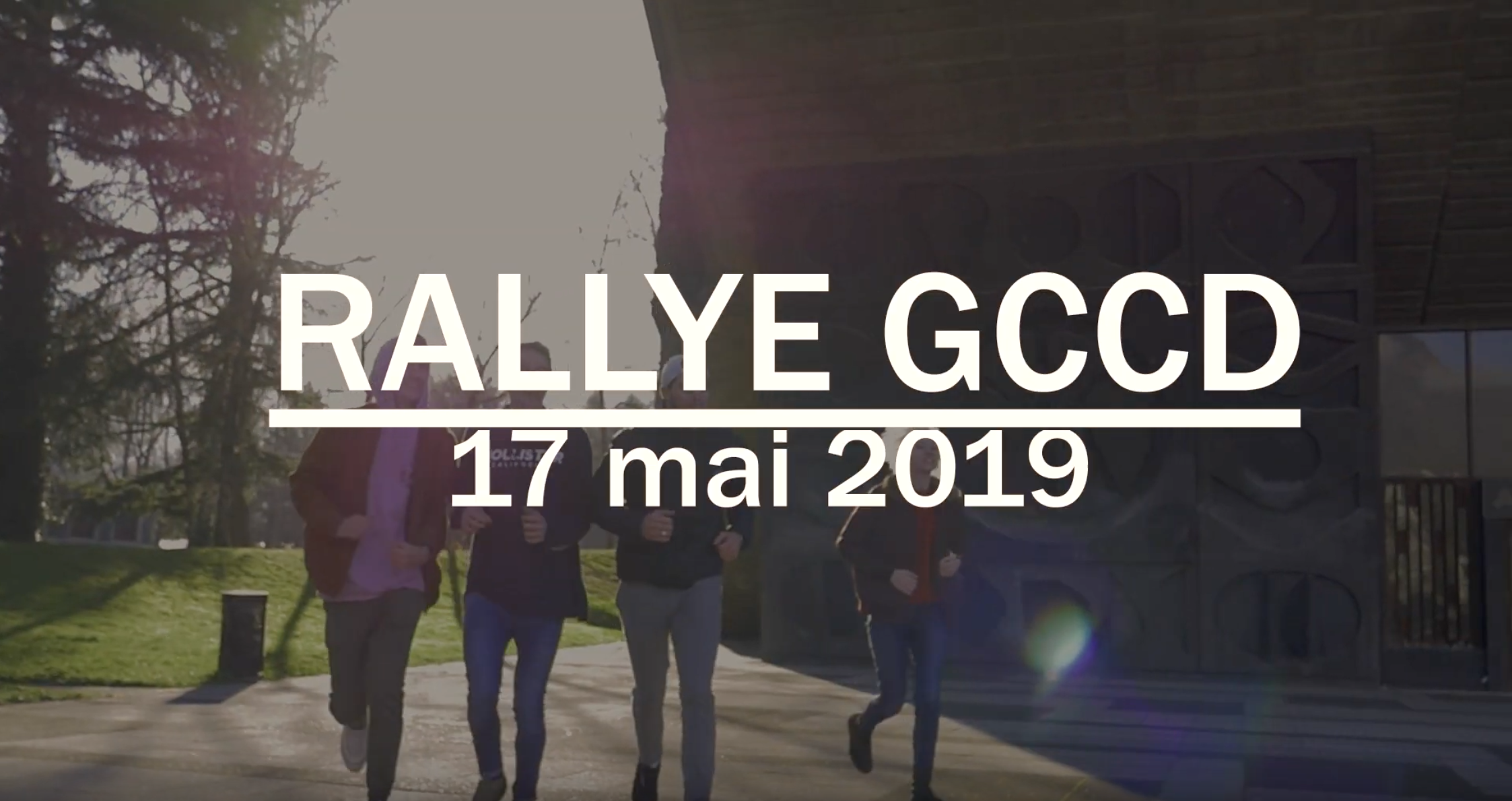 Rallye GCCD, Teaser de Communication
